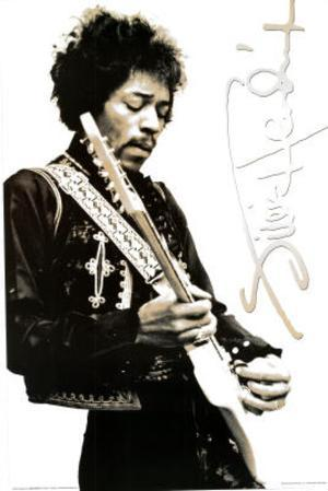 Jimi Hendrix Black & White