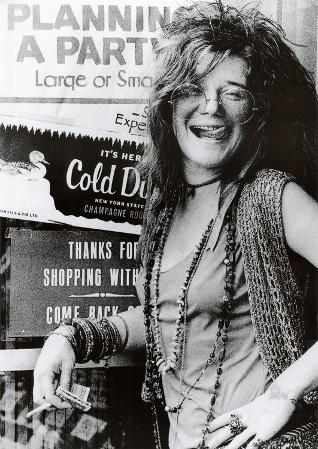 Janis Joplin Planning a Party Music Poster Print