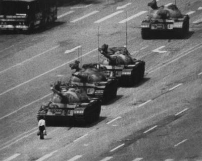 Tiananmen Square Man and Tanks Glossy Photo Photograph Print