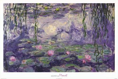 Claude Monet Ninfee Water Lilies Art Print Poster