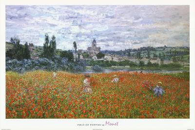 Claude Monet Field of Poppies Art Print Poster