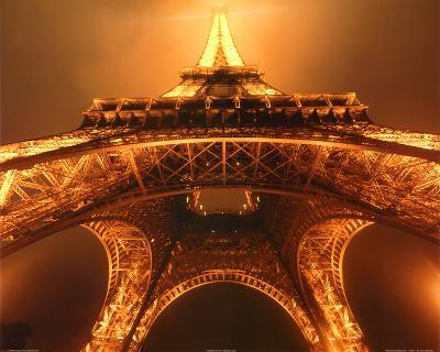Jim Zuckerman Below the Eiffel Tower Art Print Poster