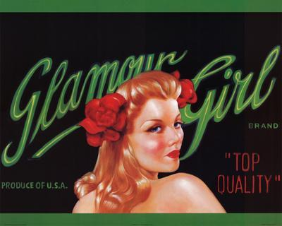 Glamour Girl Retro Art Print Poster