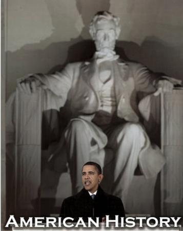 Barack Obama in Front of Lincoln Memorial Art Print Poster