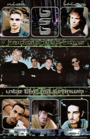 Backstreet Boys Into the Millennium Music Poster Print