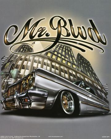 Mr. Blvd (Lowrider on Street) Art Poster Print