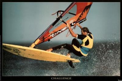 Challenge Windsurfer Motivational Poster