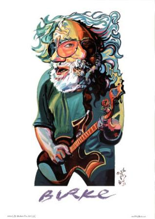 Philip Burke Jerry Garcia Art Print Poster