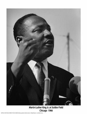 Martin Luther King Jr (At Soldier Field, Chicago, 1966) Art Poster Print