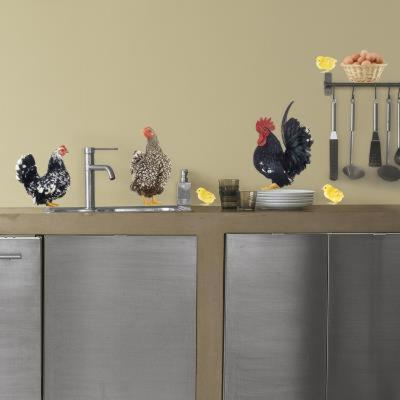 Labat Rouquette Les Poules Chickens Wall Stickers