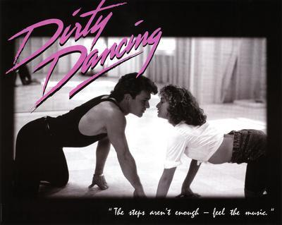 Dirty Dancing Movie Patrick Swayze Dancing Jennifer Grey 80s Poster Print