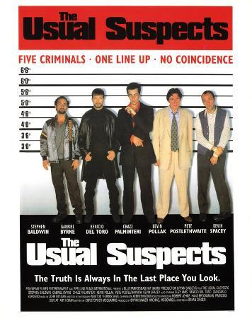 Usual Suspects Line Up Movie Poster Print