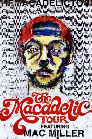 Mac Miller The Macadelic Tour Music Poster Print