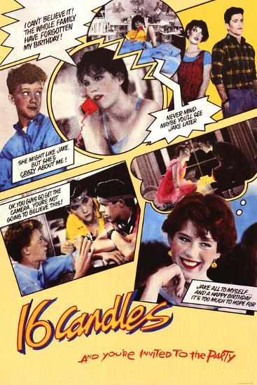 Sixteen Candles Comic Collage Movie Poster Print Prints Allposters Com