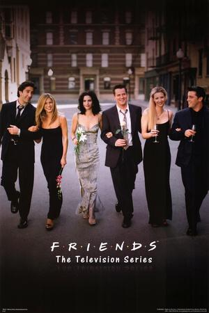 Friends Group Dressy TV Poster Print