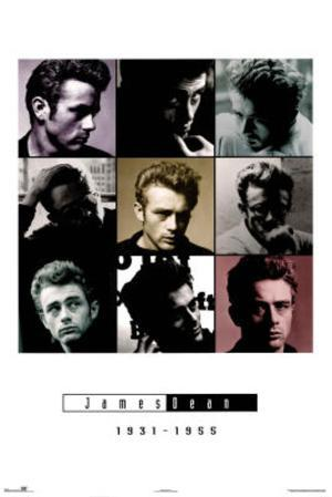 James Dean 9 Pictures Collage 1931-1955 Movie Poster Print