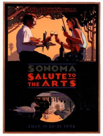 1996 Sonoma Salute to the Arts Art Print Poster