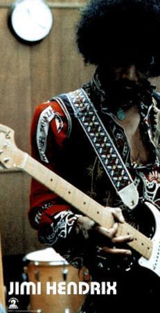 Jimi Hendrix (Playing Guitar, Studio) Music Poster Print