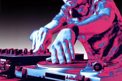 DJ Turntable Pop Art Print Poster