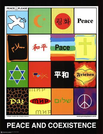 Peace & Coexistence (Languages) Art Poster Print