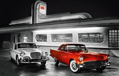 Route 66 Diner Art Print Poster