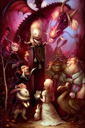 Alice Trial Fantasy Art Print Poster