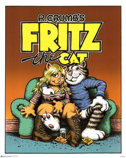 R Crumb Fritz The Cat Art Poster Print Posters Allposters Com