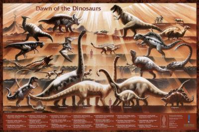 Dawn of the Dinosaurs Educational Poster Print