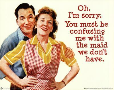 Maid We Don't Have (1950's Couple) Art Poster Print