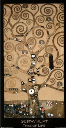 Gustav Klimt (Tree of Life - Close Up) Art Print Poster