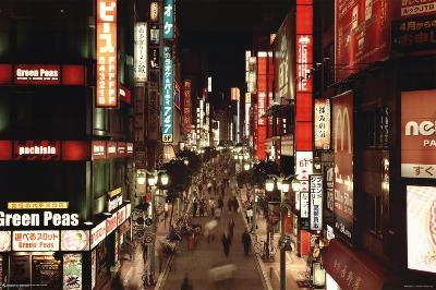 Tokyo Shinjuku Neon Art Print Poster