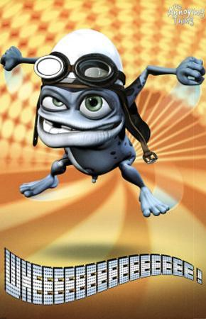 Crazy Frog The Annoying Thing Yellow Bursts Art Print Poster