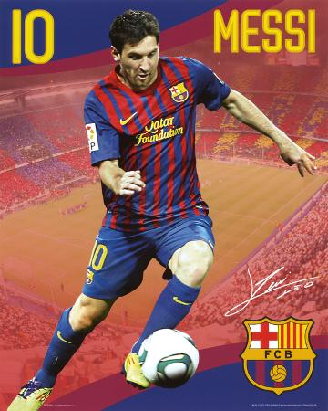 FC Barcelona Lionel Messi Sports Poster Print
