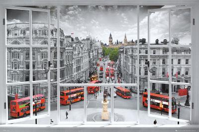London Window Art Print Poster