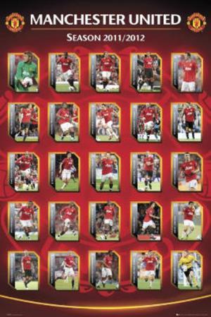 Manchester United FC 2011-12 Squad Profiles Sports Poster Print