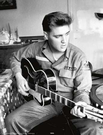 Elvis Presley Army Uniform Music Poster Print