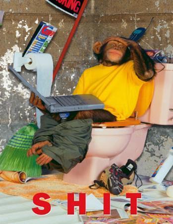 Bongo Bongo (Monkey on Toilet) Art Poster Print