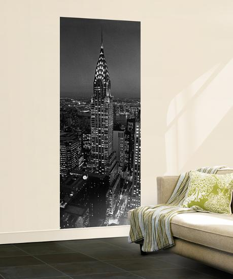 Chrysler Building New York City By Henri Silberman Giant Mural Poster