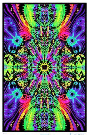 Wormhole Blacklight Poster Print