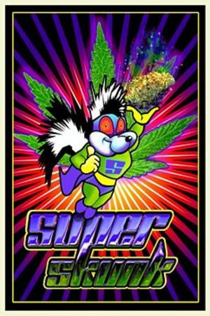 Super Skunk Pot Marijuana Blacklight Poster Print
