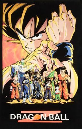 Dragon Ball Z Fist Blacklight TV Poster Print