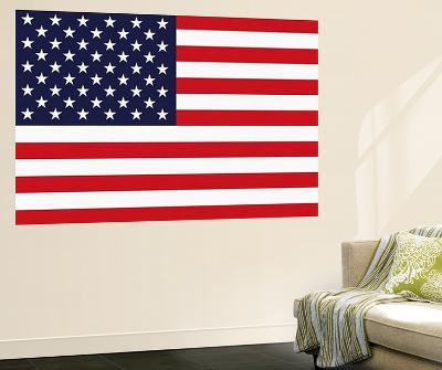 Stars and Stripes US Flag Mini Mural Huge Poster Print