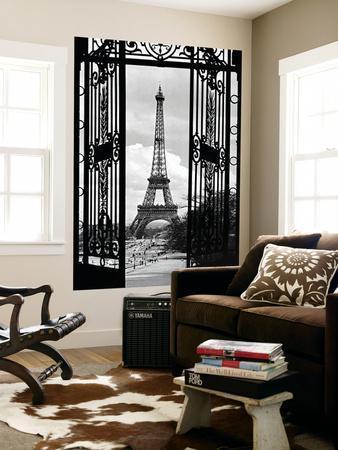 La Tour Eiffel Tower Paris Gates Mural