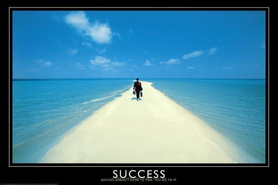 Success Walking On Beach Art Print Poster Posters At