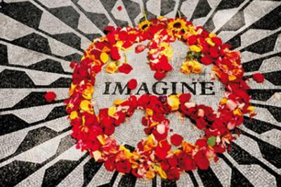 Imagine (John Lennon Memorial) Music Poster Print