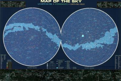 Laminated Map of the Sky Educational Poster