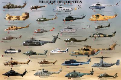 Laminated Military Helicopters Aircraft Print Poster