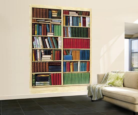 bibliotheque library wall mural wallpaper mural at. Black Bedroom Furniture Sets. Home Design Ideas
