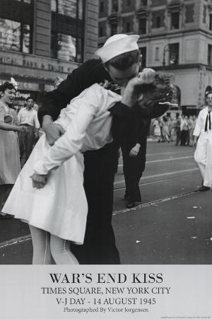 Victor Jorgensen War's End Kiss VJ Day Art Print Poster
