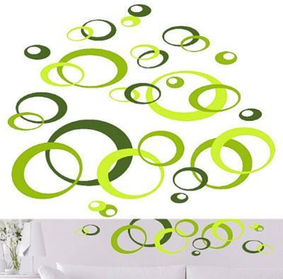 Green Ovals 78 Wall Stickers